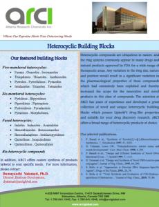 Heterocyclic Building Blocks